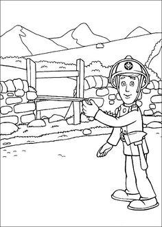 Disegni da colorare per bambini. Colorare e stampa Sam il pompiere 26