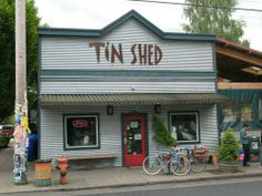 Tin Shed on Alberta St. Great food, fun atmosphere, and you can bring your dogs!- on the list!