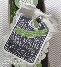 Stampin' Mom of Four - RemARKable Stamp of the Month Blog Tour - Chalk Talk stamp set from Stampin' Up!
