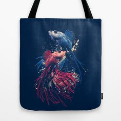 Aquarium Tote Bag by moncheng - $22.00