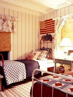country american colors cottage bedroom