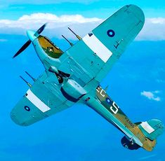 IIC which was never delivered, Hawker kept it for tests then donated to RAF in 1972 Navy Aircraft, Ww2 Aircraft, Fighter Aircraft, Military Aircraft, Fighter Pilot, Fighter Jets, Hawker Hurricane, Aircraft Painting, Supermarine Spitfire