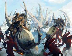 Warhammer Age of Sigmar | Artowrks | Ogors Beast Riders #warhammer #ageofsigmar #aos #sigmar #wh #whfb #gw #gamesworkshop #wellofeternity #miniatures #wargaming #hobby #fantasy