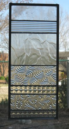Clear Modern Stained Glass Suncatcher by Nanantz on Etsy, $43.00