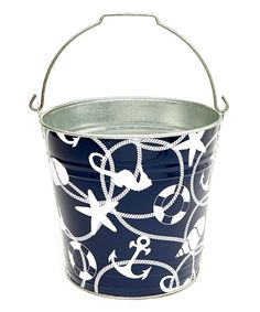 Look what I found on #zulily! The Macbeth Collection Maritime Navy Bucket by The Macbeth Collection #zulilyfinds