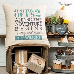 Create the perfect wedding gift! #ThirtyOneGifts #StatementCanvasPillow #JustUs