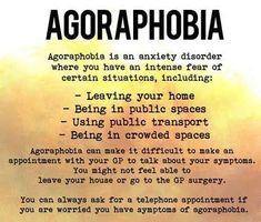 I think some people living with chronic pain has felt some level of agoraphobia. Like depression.there are different levels and intensity. In the beginning you may notice that you're isolating. Coping Skills Activities, Therapy Activities, Types Of Mental Health, Social Anxiety Disorder, Compulsive Disorder, Rare Words, Psychology Facts, Psychology Disorders, Corona