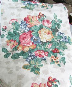 Upholstery Fabric Large FLoral Motif 54 inches by NansonCrafts