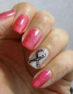 T Cancer Nails Awareness Nail Polish Designs Fingernail