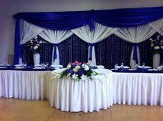 59 Super Ideas For Wedding Reception Head Table Backdrop Simple Head Table Backdrop, Backdrop Decorations, Reception Decorations, Backdrops, Royal Blue Wedding Decorations, Wedding Centerpieces, Wedding Colors, Wedding Reception Backdrop, Wedding Stage