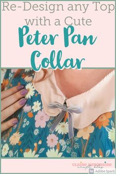Add Peter Pan Collars to your old clothes for added adorable little detail & a new neckline finish. Use this easy trick (which is a great scrap buster!) to update any piece in your wardrobe! Peter Pan collars can also breathe some new life into old sweaters, shirts, & dresses- you don't need to make the clothes yourself to add a cute collar! #scrapbuster #upcycle #repurpose #sustainableclothing Easy Sewing Projects, Sewing Projects For Beginners, Sustainable Clothing, Sustainable Living, Old Sweater, Sweaters, Chocolate Sugar Cookie Recipe, Cake Show, Scrap Busters
