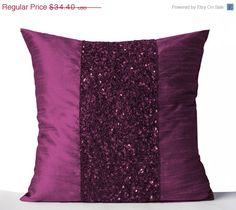 10 OFF Throw Pillows Purple Silk Pillows Purple by AmoreBeaute