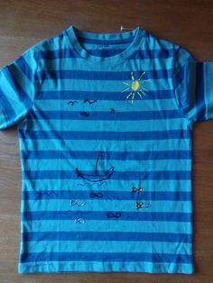 Camiseta pintada 100% per un nin de 6 anys