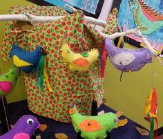 Embroidered birds by grade five. Embroidered Bird, Owls, Dinosaur Stuffed Animal, Birds, Friends, Animals, Art, Craft Art, Amigos