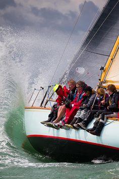 Cowes, Isle of Wight, UK, 22 July 2015 Panerai Classic Yacht Challenge 2015 British Classic Week 2015 Ladies race Whooper Ph: Guido Cantini /Panerai/Sea&See.com