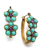 Turquoise Lucky brand earrings.