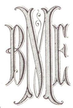 Modern Romanesque Monogram