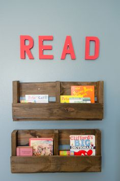 Nursery Book Wall Library