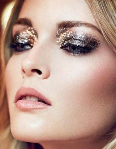 Hey, foxy lady: This mixed-medium look is quite the nod to the disco era. Smear Urban Decay's Heavy Metal Eyeliner ($22) in Glamrock along your lids before finishing off with a sprinkling of...