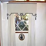 window valance idea with contrast tassel and cord trim
