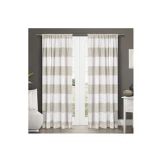 "Set of 2 Darma Rod Pocket Window Curtain Panel Linen (50""x108"") - Exclusive Home"