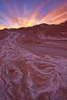 Brilliant orange clouds at sunset over red and white sandstone, White Pocket… Photo Art, Scary, Red And White, Arizona, Around The Worlds, Clouds, Stock Photos, Sunset, Orange