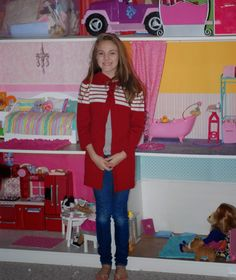 IKEA PAX frame dollhouse. Southern Girl in the Northeast : American Girl Dollhouse