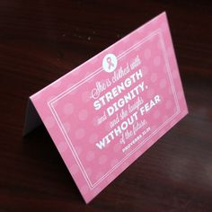 Breast Cancer Awareness notecards