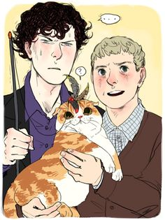 Sherlock, John and this Cat. Sherlock Fandom, Sherlock John, Sherlock Holmes Benedict, Watson Sherlock, Jim Moriarty, Sherlock Quotes, Benedict Cumberbatch, Benedict And Martin, John Martin