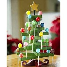 Cool idea to display holiday lollipops