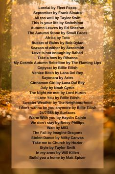 Cozy Fall Playlist - Saba Says