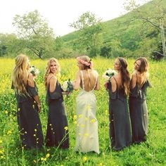 perfect! All of them will wear hair down with a small braid or something. Love the colors and the dress style!