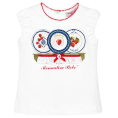 Monnalisa Baby Girls Strawberry T-Shirt at Childrensalon.com