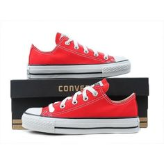 Converse Shoes Red Chuck Taylor All Star Classic Low/Hi