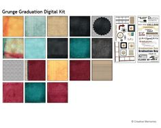 Grunge Graduation Digital Scrapbooking Kit from Creative Memories
