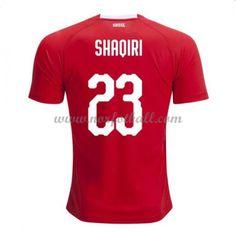 Billige Sveits Drakt VM 2018 Shaqiri 23 Kortermet Hjemme Fotballdrakter