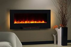 "PuraFlame Provo Wall Mount Fireplace Flat Heater (36"") Review"