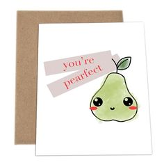 The Cutest Pun Cards By Impaper - Who doesn't love Puns? Check out these adorable cards made by a company called ImPaper. Cute Puns, Funny Puns, Love Cards, Diy Cards, Cute Gifts, Diy Gifts, Pun Card, Cards For Friends, Valentine Day Cards