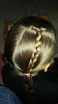 topsy tail braid into braided pigtails