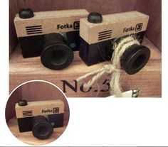 2pcs Camera Rubber Stamps  Vintage Wooden Diary by PennieHouse