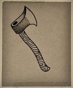 Axe Tattoo by Guilherme Hass, via Behance