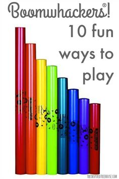 The Inspired Treehouse - If you've never played with Boomwhackers before, today is the day! One of our favorite toys for promoting developmental skills!