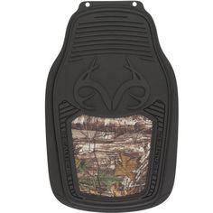 heavy duty camouflage inlay floor mats - black rubber with hawg