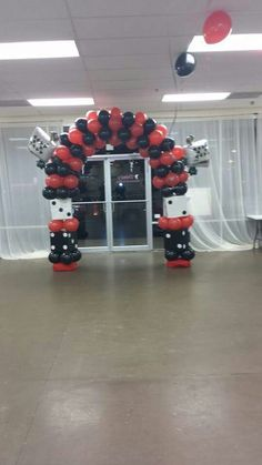 Casino theme balloon arch by events by carlisa
