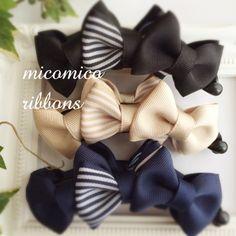 *受注制作*トリプルリボンバナナクリップ [ボーダー] Diy Hair Bows, Diy Bow, Banana Clip, Flower Making, Girl Hairstyles, Hair Clips, Ribbon, Headbands, How To Make