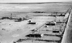 Buried in dust. Colorado Dust Bowl 1954