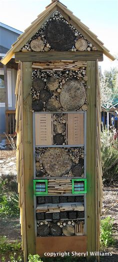//www.inspirationgreen.com/insect-habitats.html | Garden ... on beehive plans and designs, box house designs, food designs, bird designs, luxury pool house designs, signs designs, cat house designs,