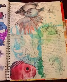 Fantasy fish developing ideas page (ms Holden)