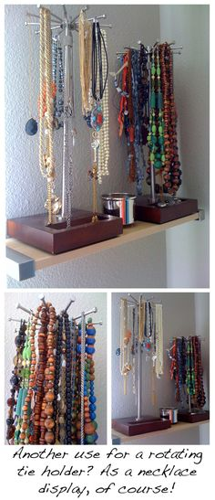 Jewelry Organizer Wall Necklace Bracelet Ring Hanging Display Tree