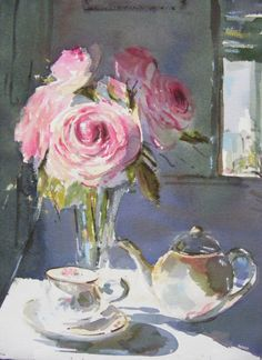 Lynette Cramb - Roses in Tea